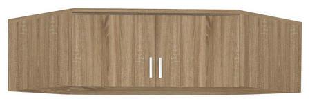 AUFSATZSCHRANK in Eichefarben  - Eichefarben/Silberfarben, Basics, Holzwerkstoff/Kunststoff (120/39/54cm) - Carryhome