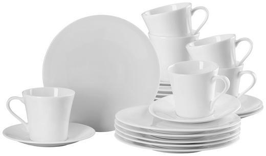 Bone China  Hutschenreuther Kaffee-Set 18-teilig - Weiß, Keramik (25/25/30cm)