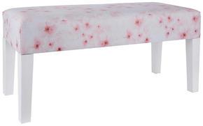 SITTBÄNK - vit/pink, Trend, trä/träbaserade material (101/41/47cm) - Ambia Home