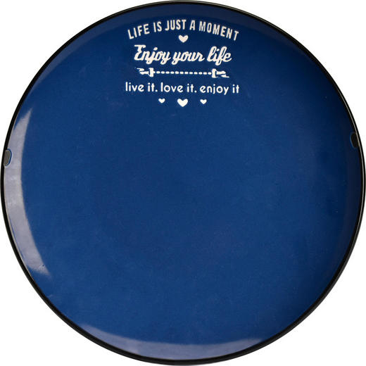 DESSERTTELLER - Blau/Schwarz, LIFESTYLE, Keramik (20,4//cm) - Landscape