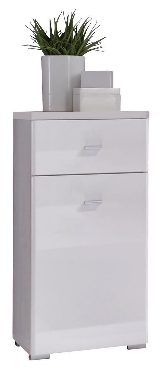 KOMMODE Weiß - Silberfarben/Weiß, Design, Holzwerkstoff/Kunststoff (38/78/31cm) - Xora