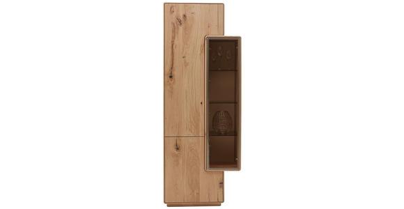 VITRINE in massiv Wildeiche Eichefarben - Eichefarben, Design, Glas/Holz (75/198,5/38,5cm) - Valnatura
