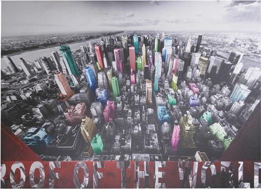 BILD - Multicolor, Design, Textil (140/100/4cm) - KARE-Design