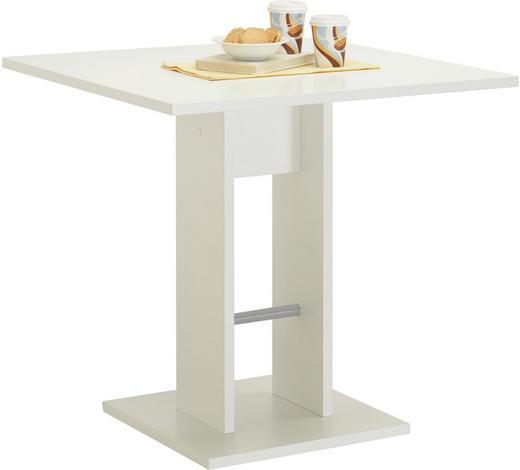 JÍDELNÍ STŮL, bílá - bílá, Konvenční, kompozitní dřevo (75/75/74cm) - Carryhome