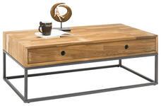 COUCHTISCH in Holz, Metall 110/60/41 cm   - Eichefarben/Anthrazit, Natur, Holz/Metall (110/60/41cm) - Carryhome
