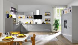 EINBAUKÜCHE  - Grau, Design - Moderano