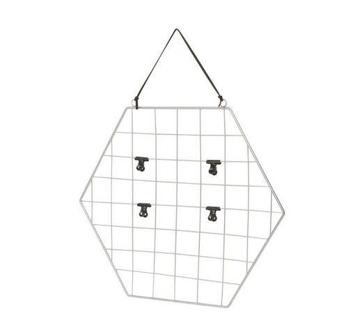 MEMOBOARD - Silberfarben/Schwarz, Design, Metall (45,5/41/1,5cm)