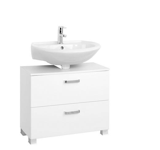 WASCHBECKENUNTERSCHRANK Weiß - Silberfarben/Weiß, Design, Holzwerkstoff/Kunststoff (70/54/35cm) - Xora