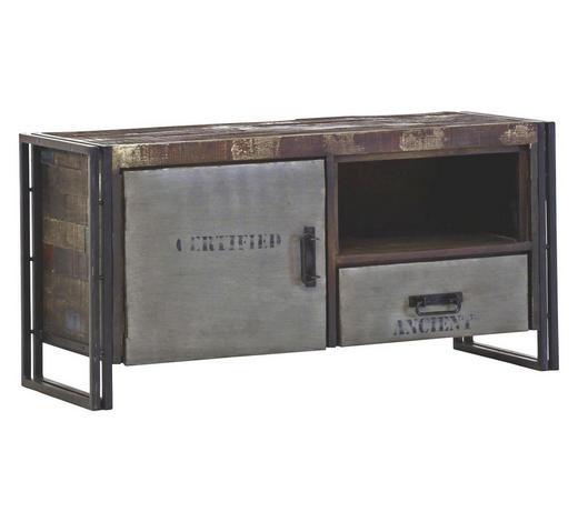 TV-ELEMENT 120/60/45 cm - Braun, Design, Holz/Metall (120/60/45cm)