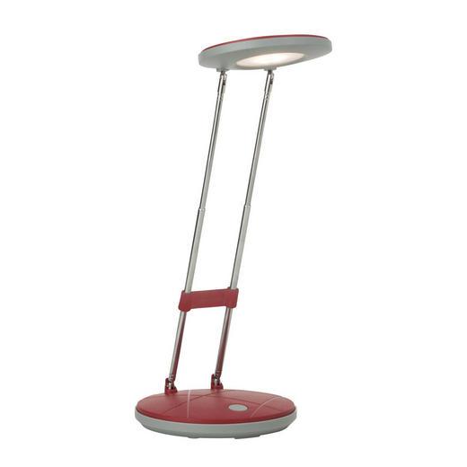 SCHREIBTISCHLEUCHTE - Rot, Design, Kunststoff/Metall (12/23,6cm)