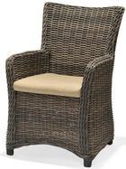 GARTENSESSEL - Taupe/Braun, Design, Kunststoff/Textil (60,8/93,2/65,4cm) - AMBIA GARDEN