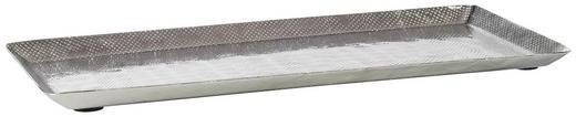 DEKOTABLETT - Silberfarben, Design, Metall (38/17/2cm)