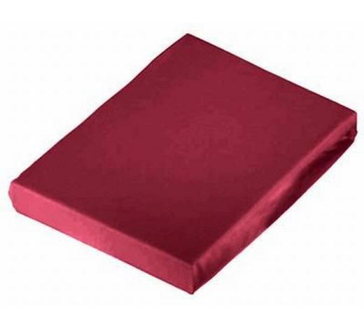PLAHTA S GUMICOM - bordeaux, Konvencionalno, tekstil (100/200cm) - Schlafgut