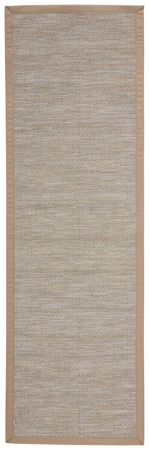 LÄUFER  In-/ Outdoor 80/250 cm  Grau, Hellbraun - Hellbraun/Grau, Basics, Textil (80/250cm) - Novel