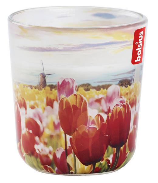KERZE IM GLAS - Basics, Glas (7,3/7,3/8,0cm) - Bolsius