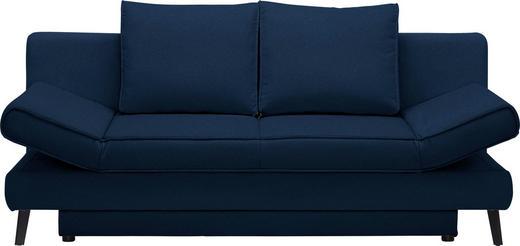 SCHLAFSOFA in Textil Blau - Blau/Schwarz, Design, Textil/Metall (200/85/90cm) - Xora