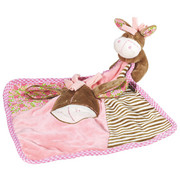 SCHMUSETUCH - Braun/Rosa, Textil (25/25cm) - MY BABY LOU