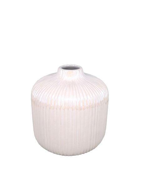 VASE - Weiß, Basics, Keramik (16/16cm) - Ambia Home