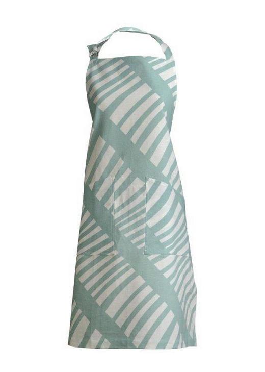 SCHÜRZE - Türkis, Basics, Textil (70/90cm) - Linum
