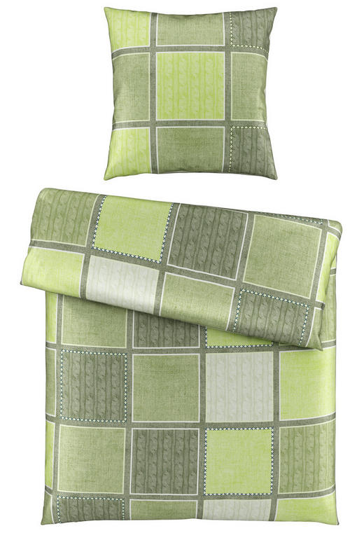 BETTWÄSCHE Satin Grün 155/220 cm - Grün, Design, Textil (155/220cm) - Novel