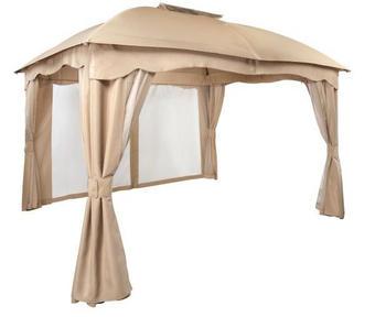 PAVILJON - temno rjava/bež, Design, kovina/tekstil (365/210/284/300cm) - Ambia Garden
