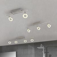 LED SVÍTIDLO - bílá/barvy hliníku, Design, kov/sklo (60,5/8/19cm) - Celina