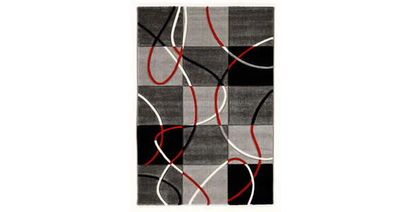 WEBTEPPICH  65/130 cm  Rot, Schwarz - Rot/Schwarz, Basics, Textil (65/130cm) - Novel