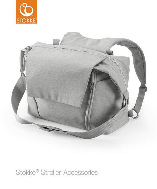 WICKELTASCHE - Hellgrau, Basics, Textil (55/41/13cm) - Stokke