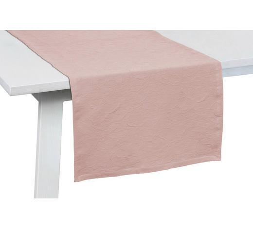 TISCHLÄUFER Textil Jacquard Rosa 50/150 cm  - Rosa, Basics, Textil (50/150cm)