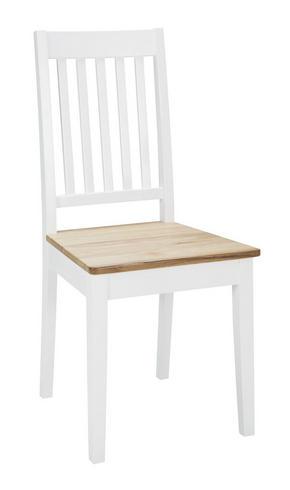 STOL - vit/ekfärgad, Klassisk, trä (44/94/46cm) - Rowico