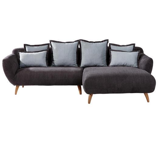 WOHNLANDSCHAFT in Textil Hellblau, Dunkelgrau - Dunkelgrau/Naturfarben, Design, Holz/Textil (280/175cm) - Carryhome