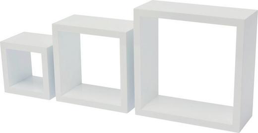 HÄNGEWÜRFEL-SET 3-teilig Weiß - Weiß, Design (10/25/24cm) - Carryhome