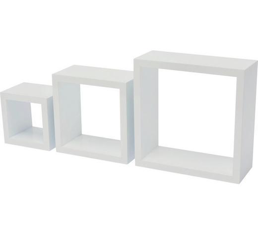 HÄNGEWÜRFEL-SET 3-teilig Weiß  - Weiß, Design (24/25/10cm) - Carryhome