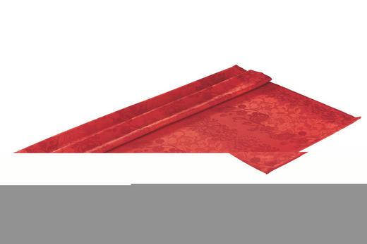 TISCHDECKE Textil Jacquard Rot 100/100 cm - Rot, Basics, Textil (100/100cm)