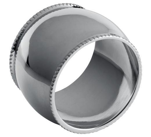 KROUŽEK NA UBROUSKY - barvy stříbra, Design, kov (4,75/2,75cm) - Ambia Home
