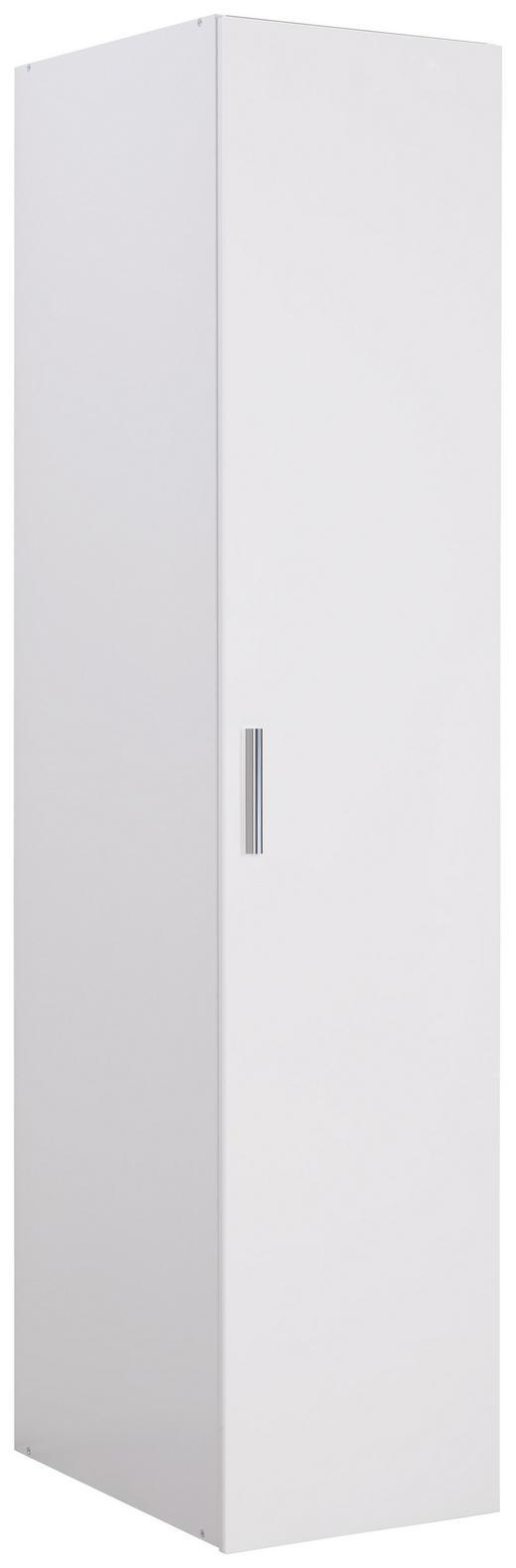 GARDEROBENSCHRANK 45/185/40 cm - Chromfarben/Weiß, Design, Holzwerkstoff/Kunststoff (45/185/40cm) - Xora