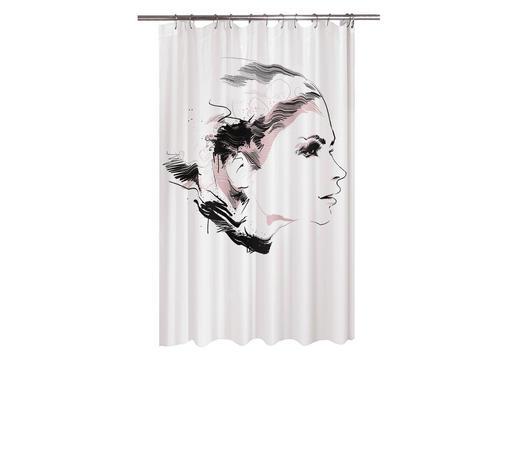 DUSCHVORHANG - Schwarz, Trend, Textil (180/200cm) - Kleine Wolke