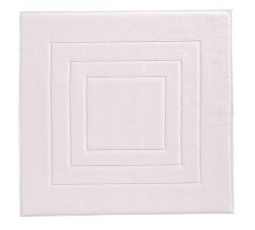 PŘEDLOŽKA KOUPELNOVÁ, 60/60 cm, bílá - bílá, Basics, textil (60/60cm) - Vossen