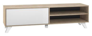 TV-ELEMENT 160/45/40 cm  - Weiß/Sonoma Eiche, Design, Holzwerkstoff (160/45/40cm) - Carryhome