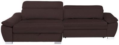 WOHNLANDSCHAFT in Textil Braun  - Silberfarben/Braun, MODERN, Kunststoff/Textil (175/270cm) - Carryhome