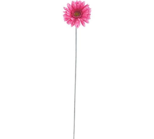 KUNSTBLUME - Pink/Grün, Basics, Kunststoff/Textil (56cm)