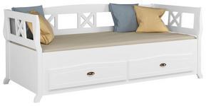 BETT in Weiß  - Weiß, LIFESTYLE, Holzwerkstoff (90/200cm) - Carryhome