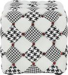 TABURE tekstil bela, siva - siva/bela, Design, tekstil (46/45/46cm) - Hom`in
