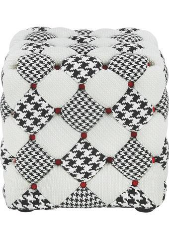 TABURE, tekstil siva, bela - siva/bela, Design, tekstil (46/45/46cm) - Hom`in