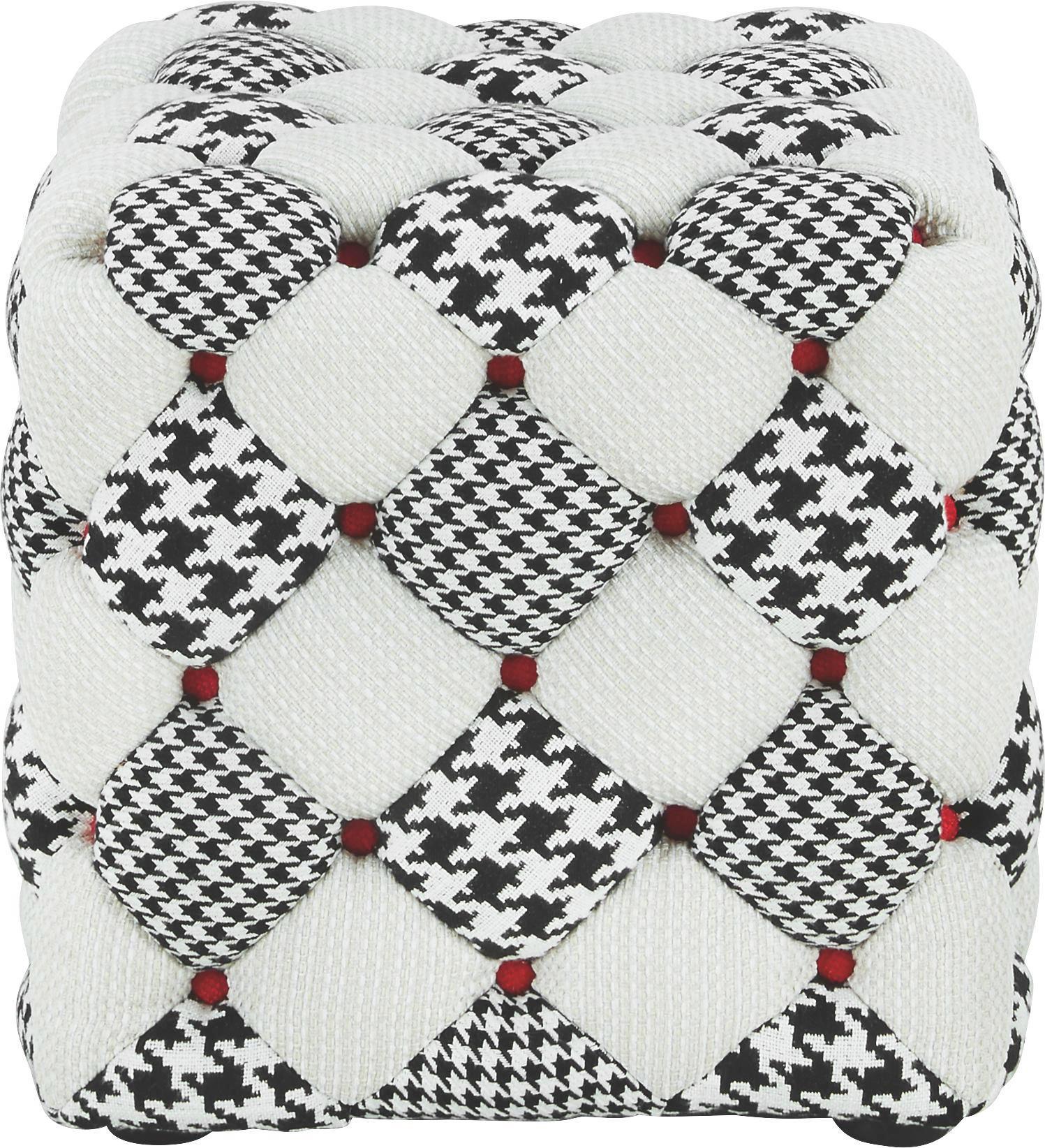TABURE - siva/bela, Moderno, tekstil (46/45/46cm) - HOM`IN