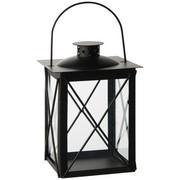 LATERNE - Schwarz, Design, Glas/Metall (15/20/15cm) - Ambia Home