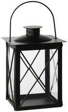 LUCERNA - černá, Design, kov/sklo (15/20/15cm) - Ambia Home