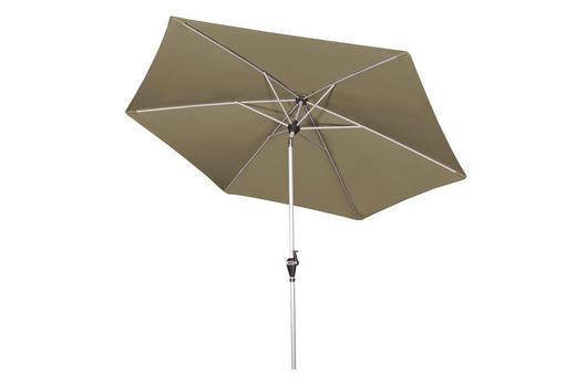 SONNENSCHIRM 280 cm Braun - Silberfarben/Braun, Design, Textil/Metall (280cm)