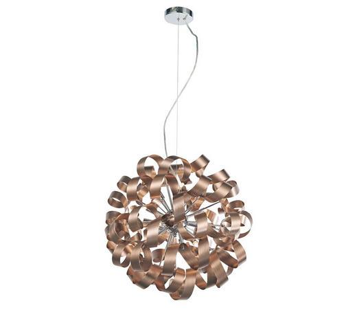 LED-HÄNGELEUCHTE - Chromfarben/Kupferfarben, Design, Metall (60/180cm) - Ambiente