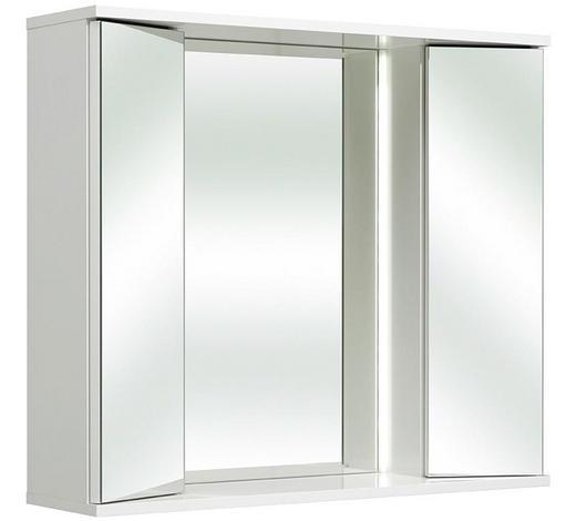 SPIEGELSCHRANK Weiß  - Weiß, KONVENTIONELL, Glas/Holzwerkstoff (80/70/20cm) - Xora